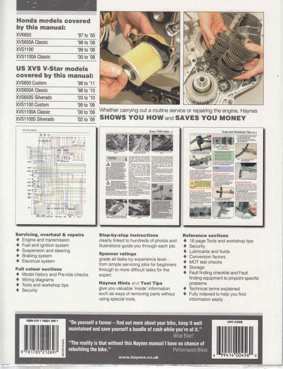 small resolution of  yamaha xvs650 and xvs1100 drag star v star 1997 2011 workshop manual