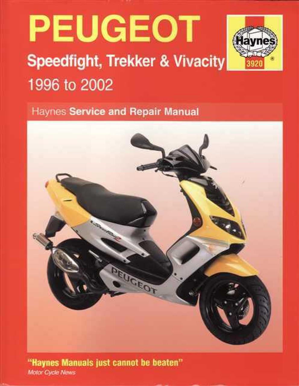 small resolution of peugeot scooters speedfight trekker amp vivacity 1996 2002 workshop manual