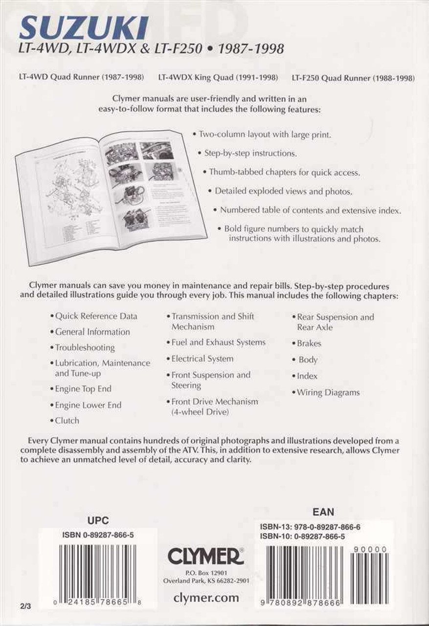 medium resolution of  suzuki atv lt 4wd lt 4wdx amp lt f250 1987