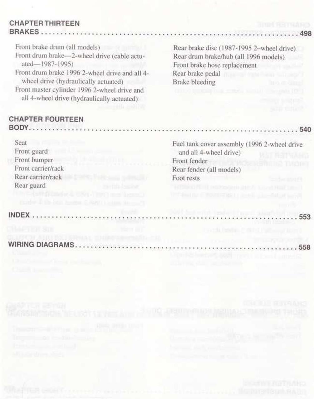small resolution of yamaha moto 4 big bear yfm350er ou fw atvs 1987 1998 workshop manual