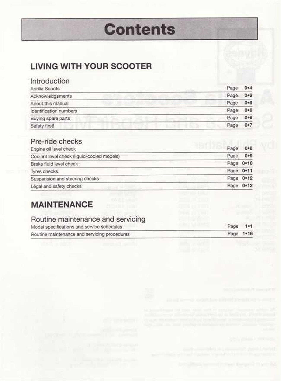 aprilia sr50 rally sonic habana mojito scooters 1993 2009 workshop manual [ 947 x 1280 Pixel ]