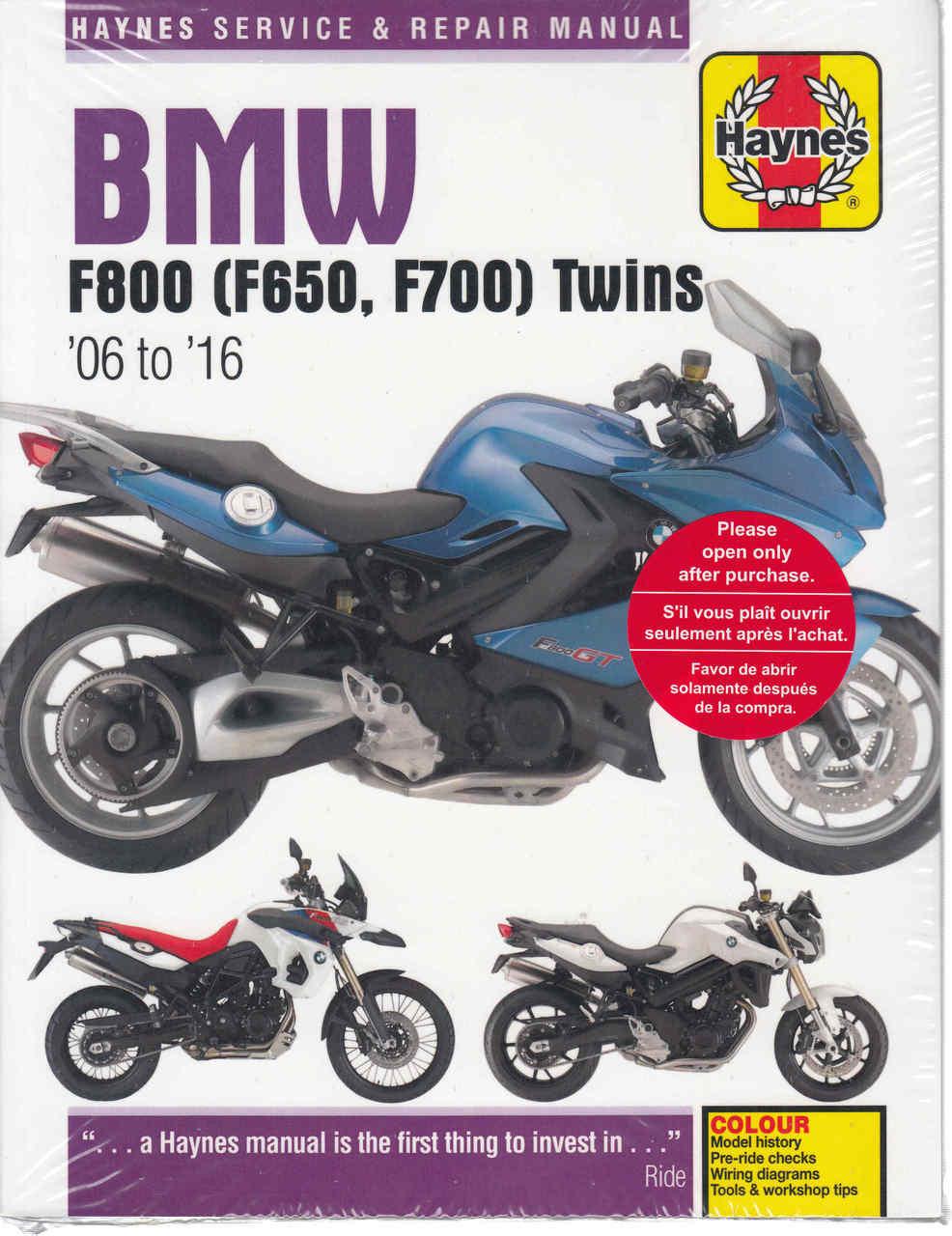 hight resolution of bmw f800 f650 twins 2006 2016workshop manual 9780857339218