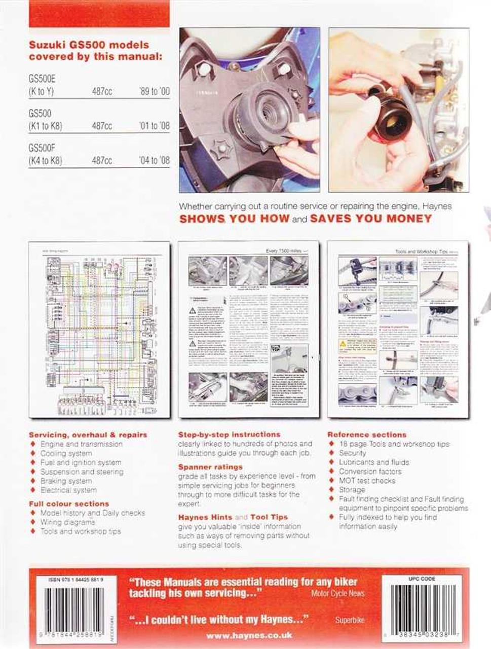 medium resolution of suzuki gs500 gs500e gs500f twin 1989 2008 workshop manual gs500 wiring diagram gs500f wiring diagram