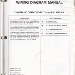 Commodore Vl Wiring Diagram 0 10 Volt Dimming Holden Calais Vn Series Repair Service Workshop Manual Vol 7 Camira Je Manua