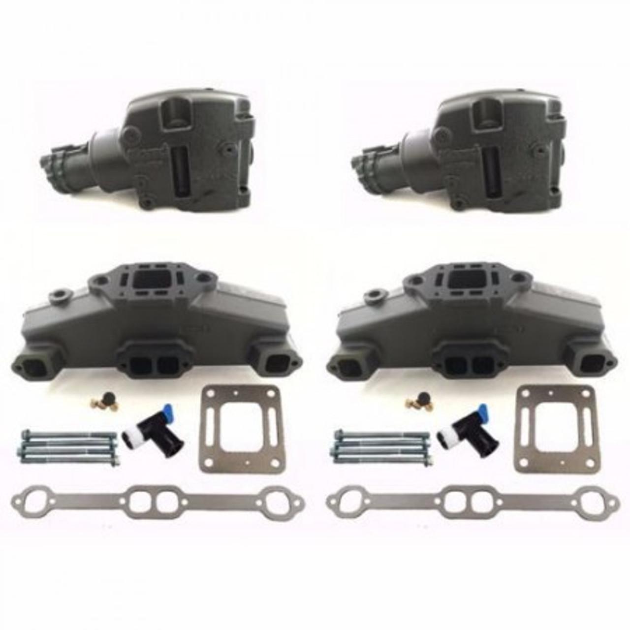 sierra mercruiser 5 7 350 5 0 305 6 2 377 v8 exhaust manifold riser kit