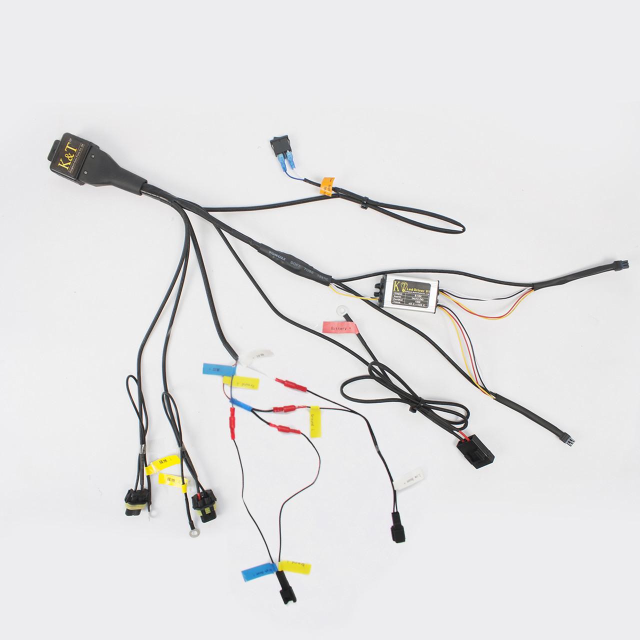 hight resolution of tailor made relay wiring harness for kt kawasaki custom headlight