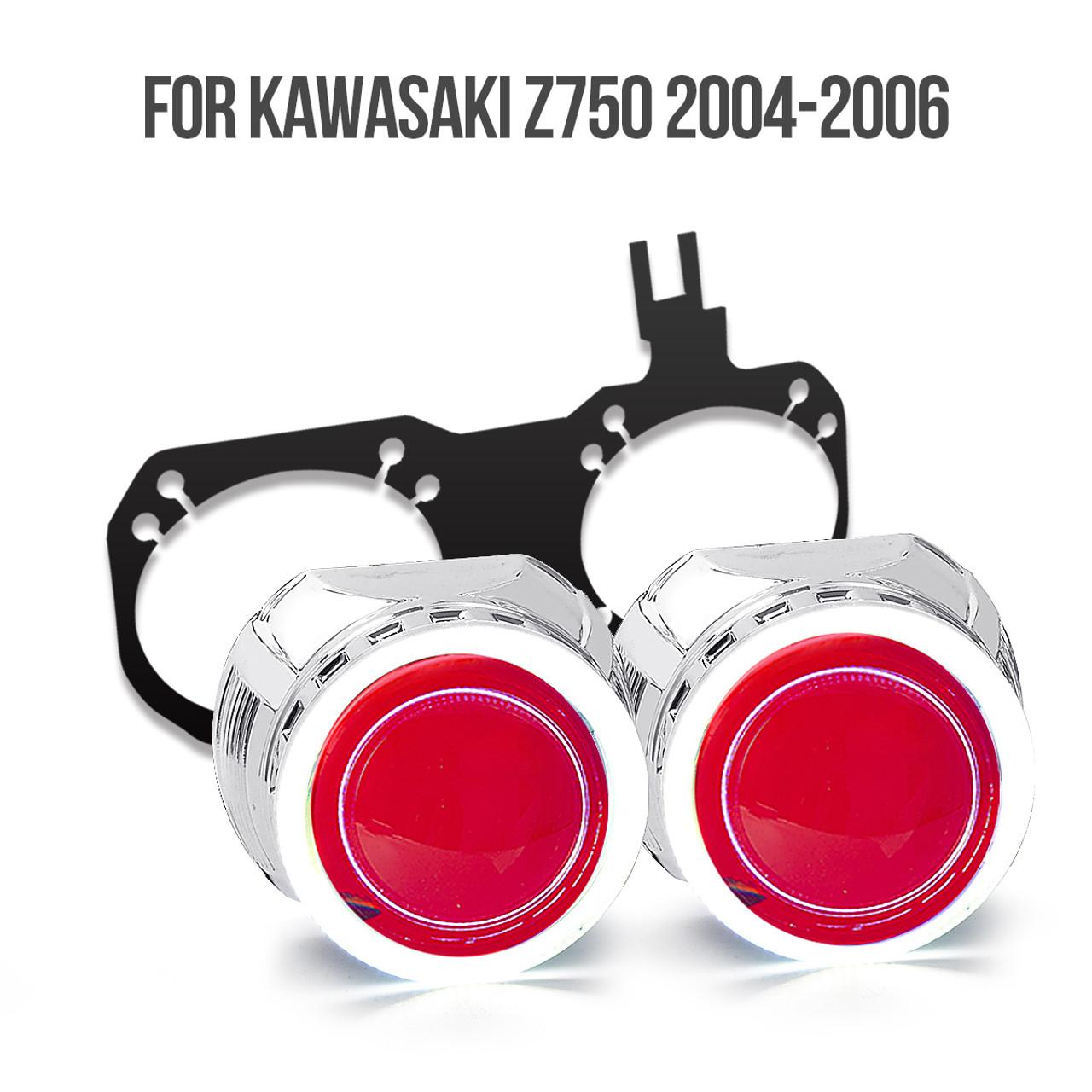 2004 kawasaki z750 hid projector kit [ 1200 x 1200 Pixel ]