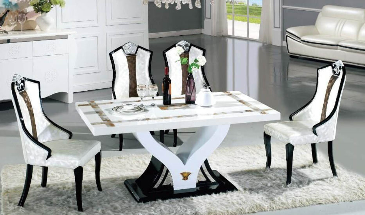 marble living room table sets centerpieces ideas dining 1 and 6 chairs warehouse direct bargain chair set