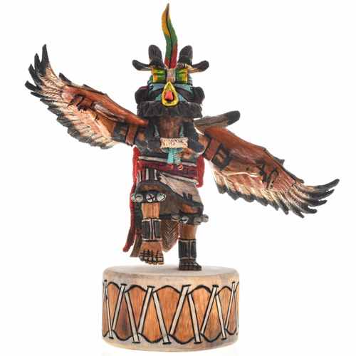 Eagle Dancer Kachina Doll Drum