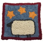 Beginner Rug Hooking Kit Sheep With Stars