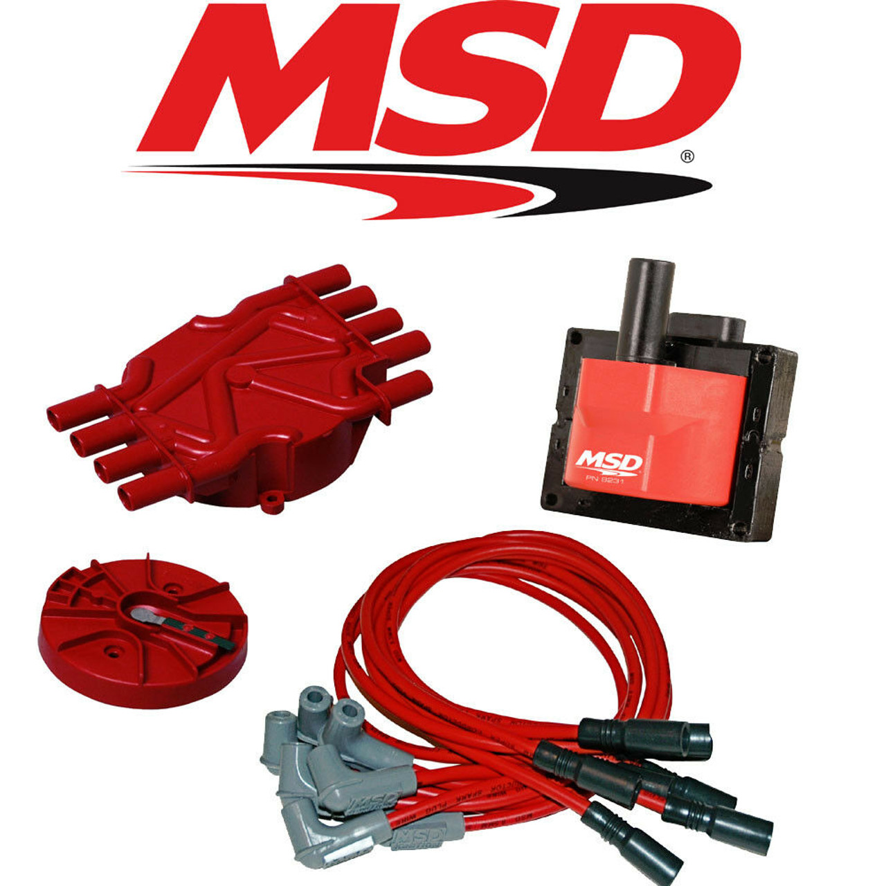 msd ignition tuneup kit 96 98 chevy gmc vortec 5 0 5 7l cap rotor coils wires