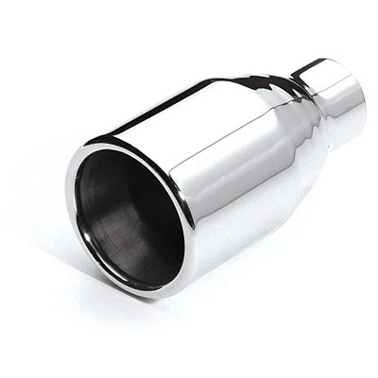 etc dt 019 stainless exhaust tip rolled edge straight 2 25 inlet 4 5 outlet