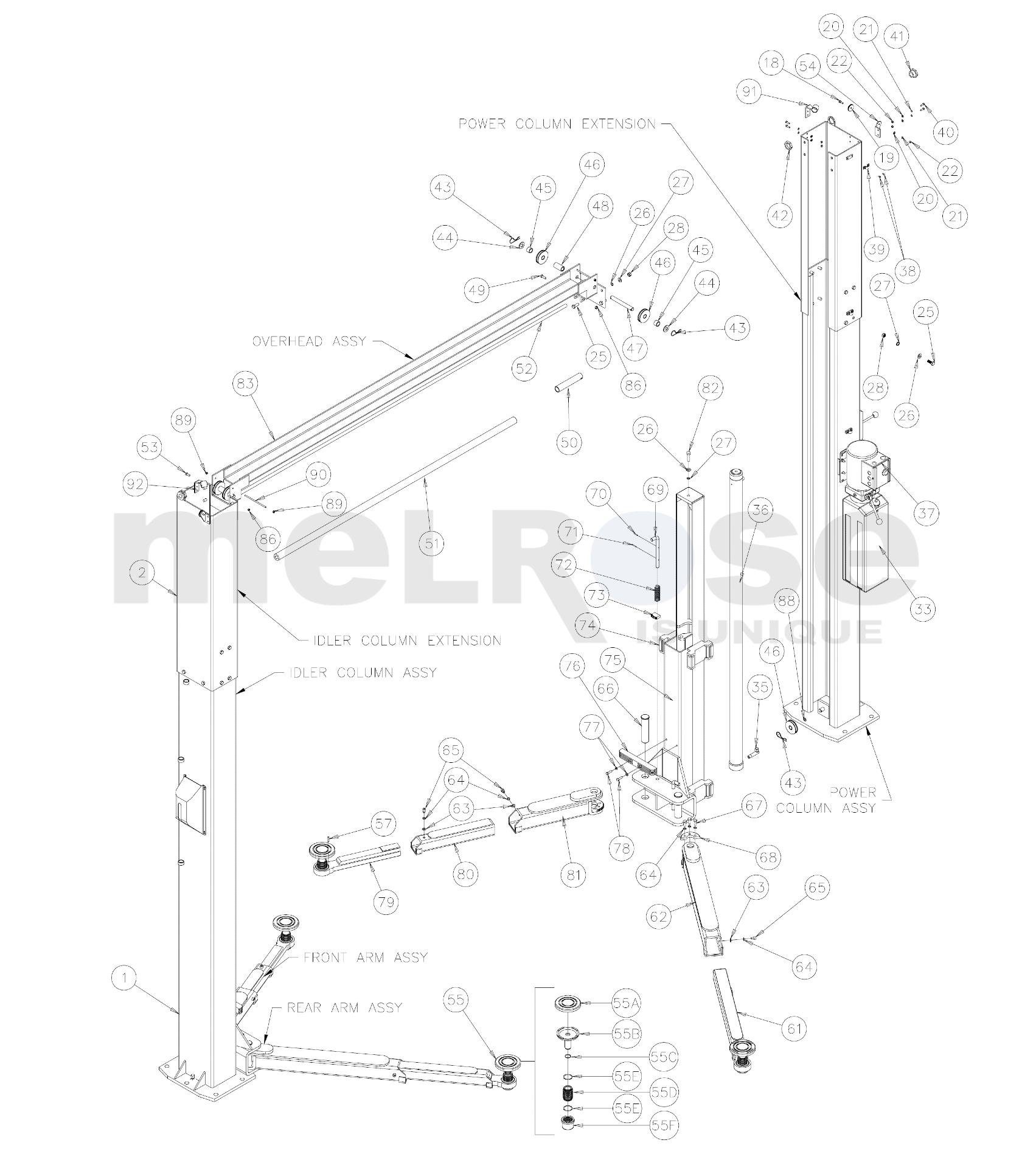 Challenger Lifts E10 Parts