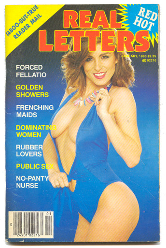 1985 January Real Letters Magazine Vintage Adult