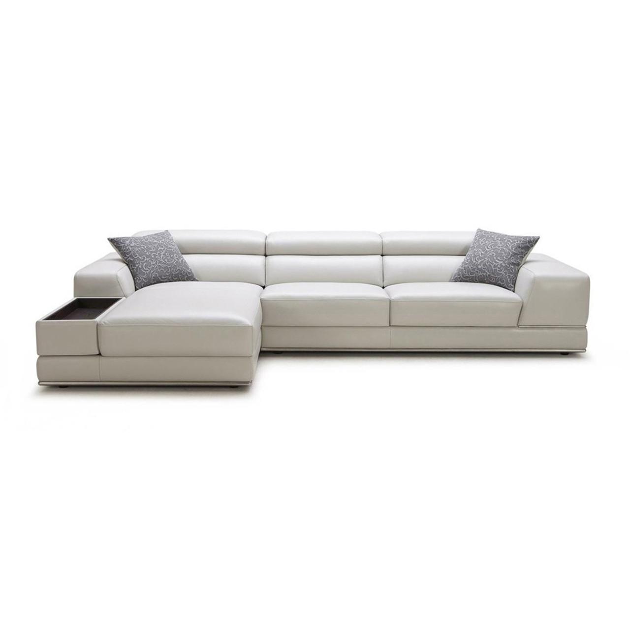 t35 mini modern white leather sectional sofa small 2 seater recliner divani casa pella lounge la