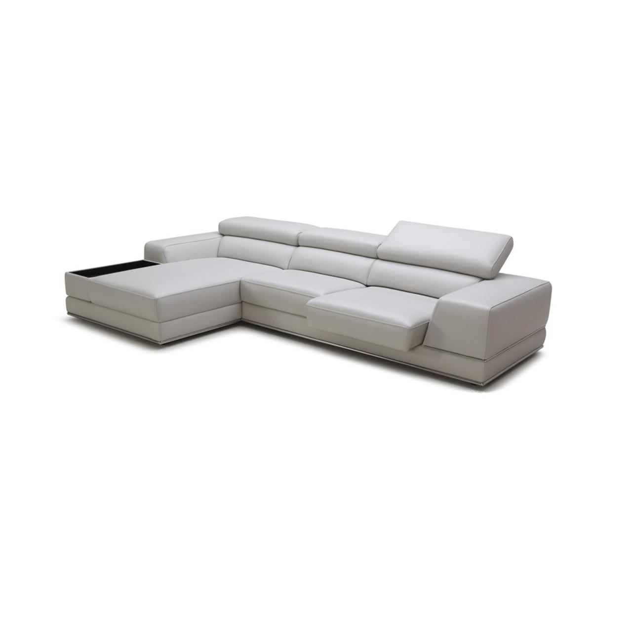 t35 mini modern white leather sectional sofa and loveseat slipcovers divani casa pella lounge la on sale
