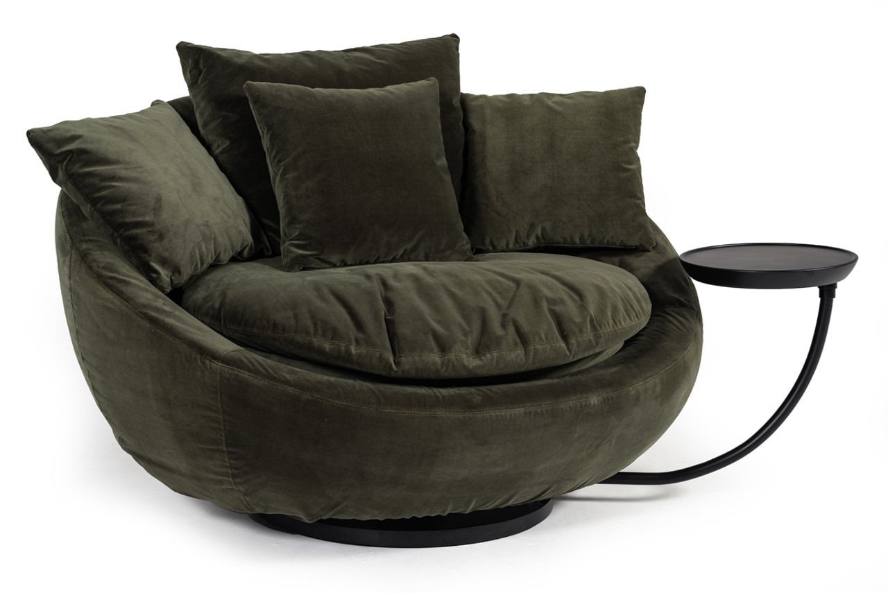 green velvet swivel chair how much does it cost to ship a divani casa pascal modern round lounge la