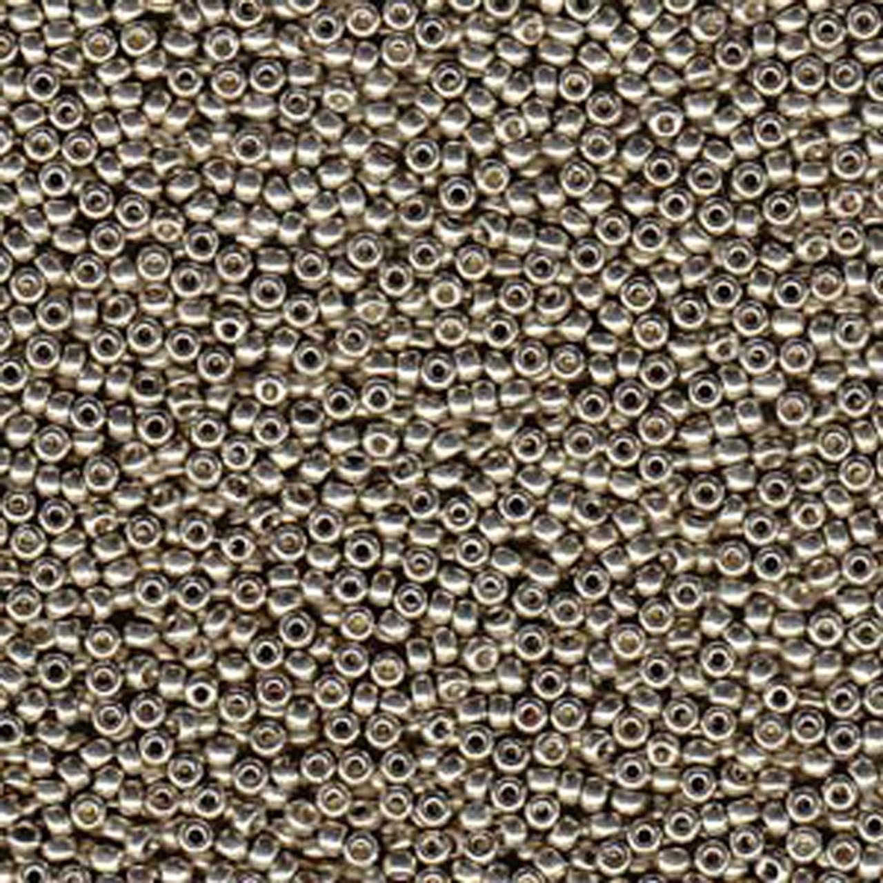 medium resolution of duracoat galvanized light smokey pewter miyuki 11 0 rocailles glass seed beads 24 grams