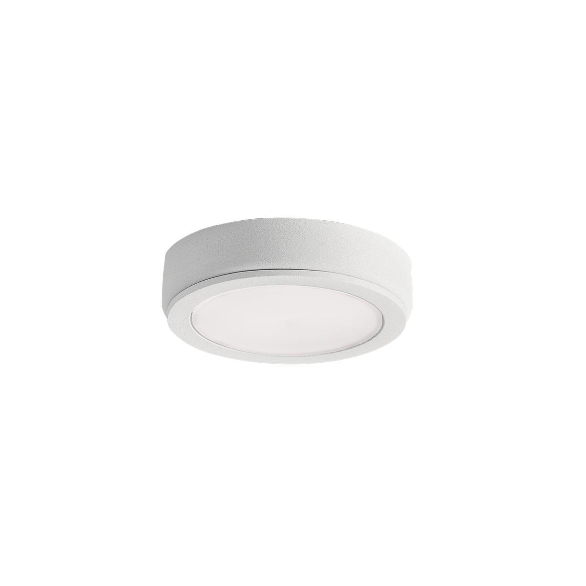 kichler 6d24v30wht 6d series 24v led disc 3000k in textured white