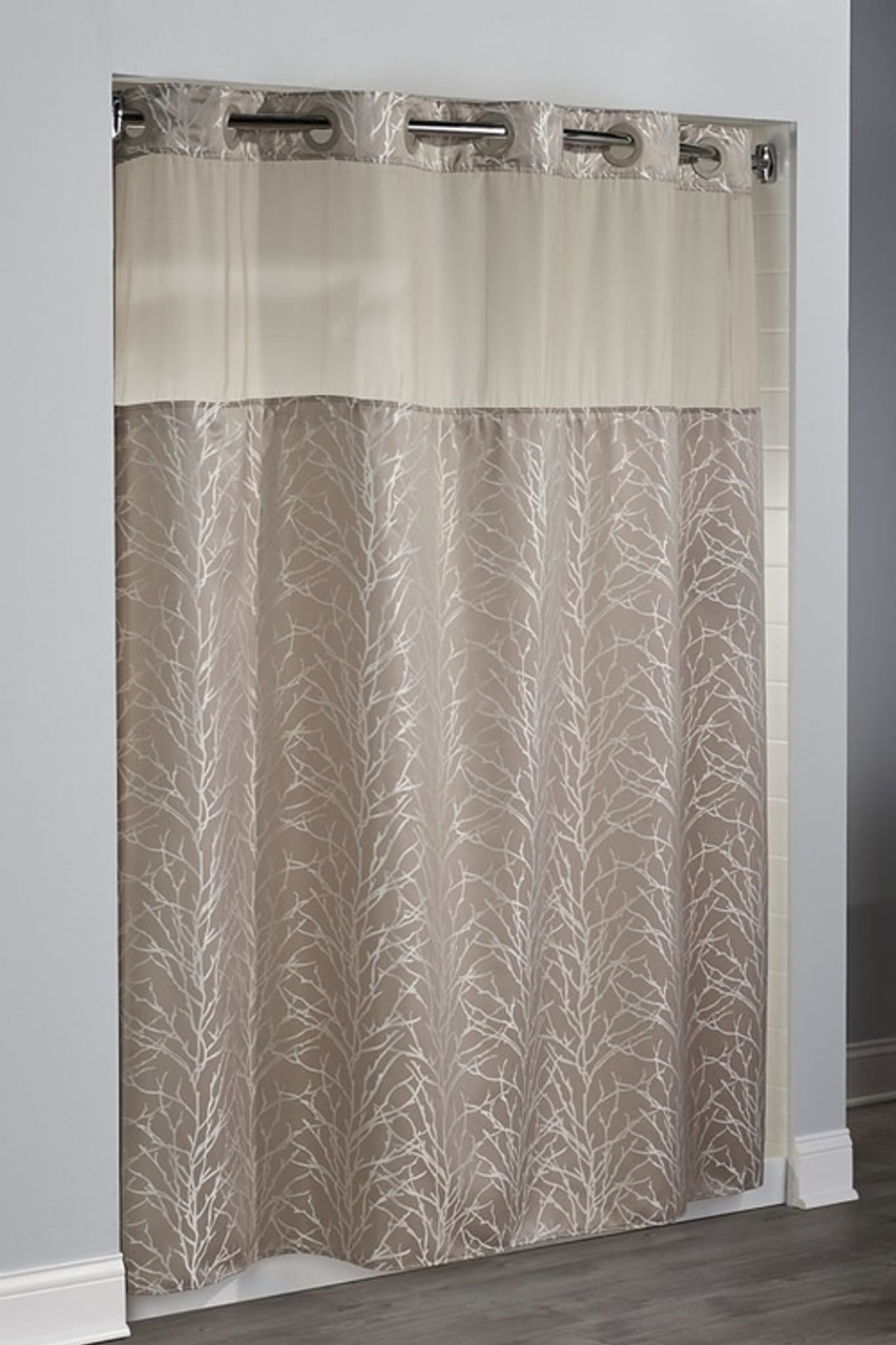 tree branch hookless shower curtain