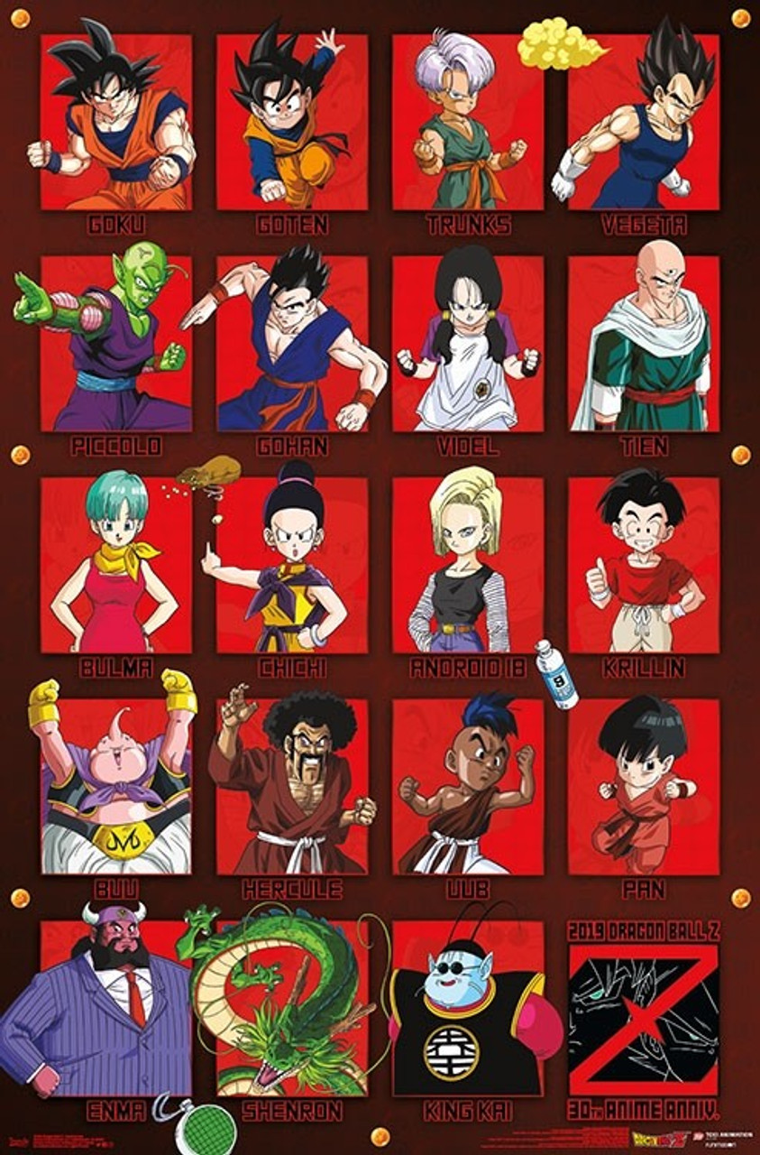 dragon ball z poster anniversary
