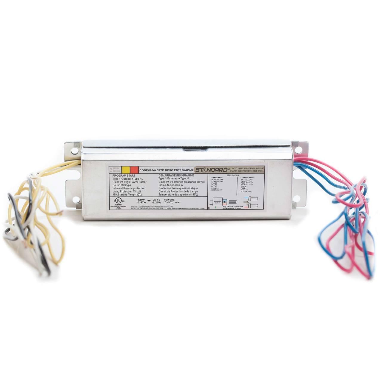 hight resolution of standard 120v pl series programmed start electronic ballast 1 2 lamp