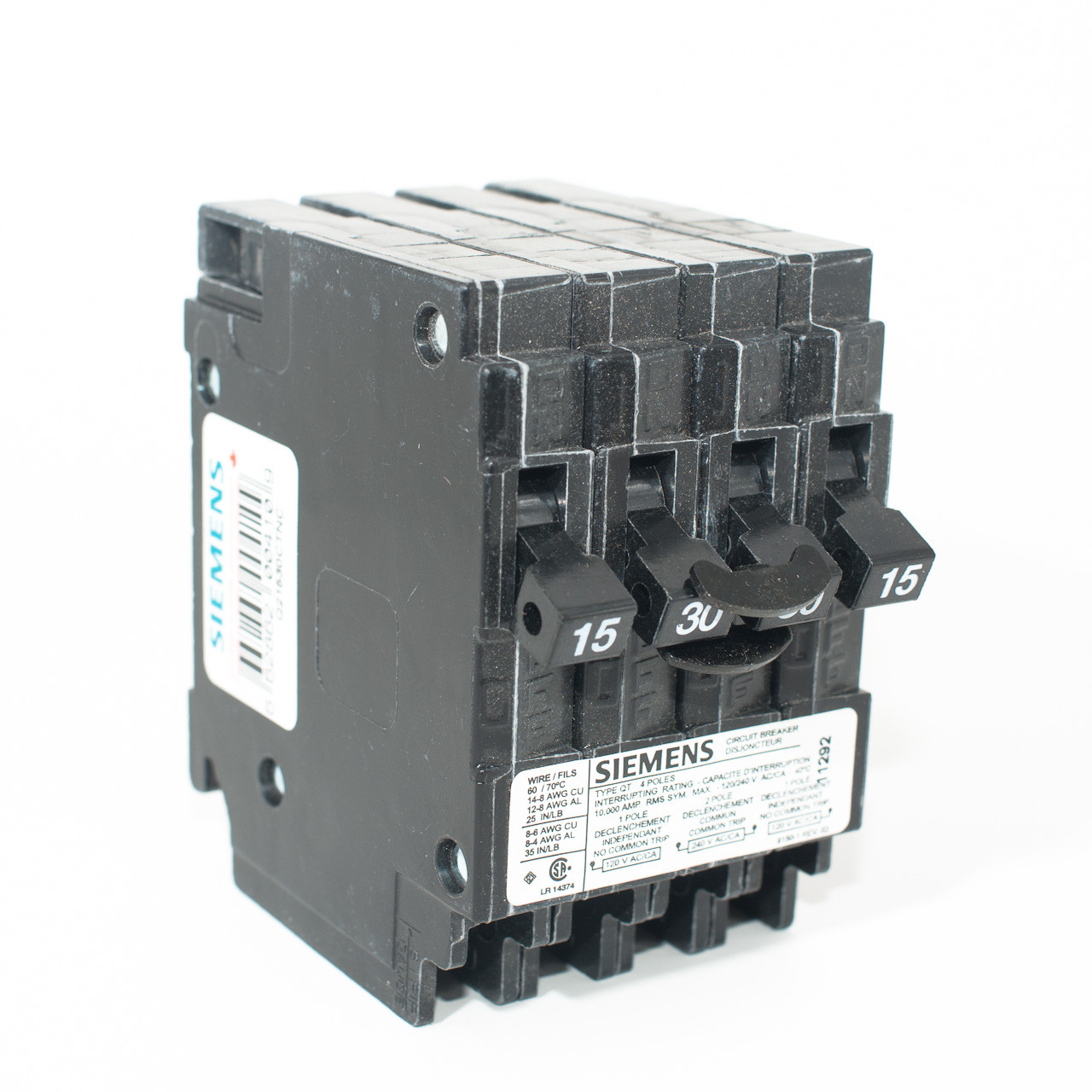 medium resolution of siemens q21530ctnc 15 2p30 15 quad push on breaker tremtech electrical systems inc