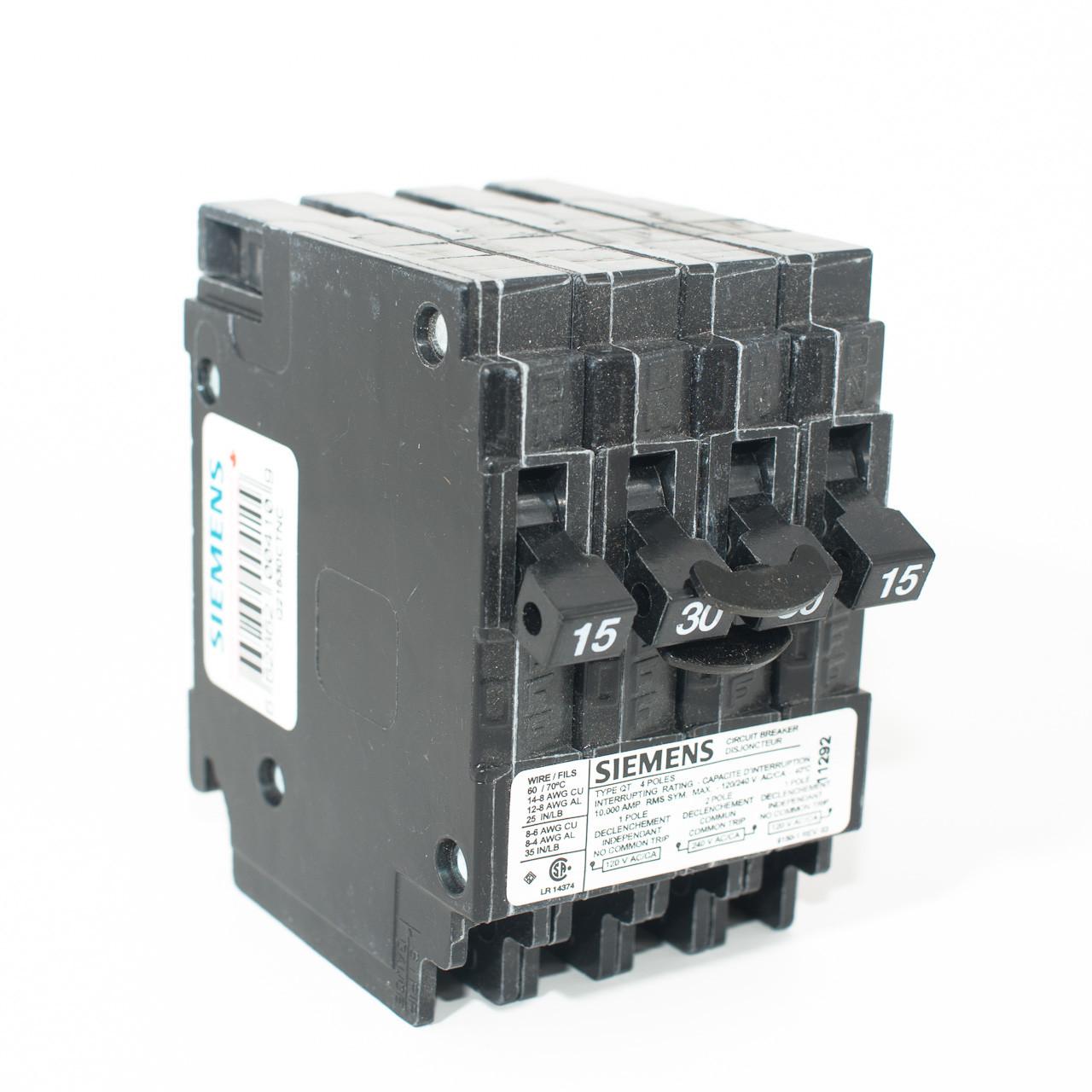 hight resolution of siemens q21530ctnc 15 2p30 15 quad push on breaker tremtech electrical systems inc