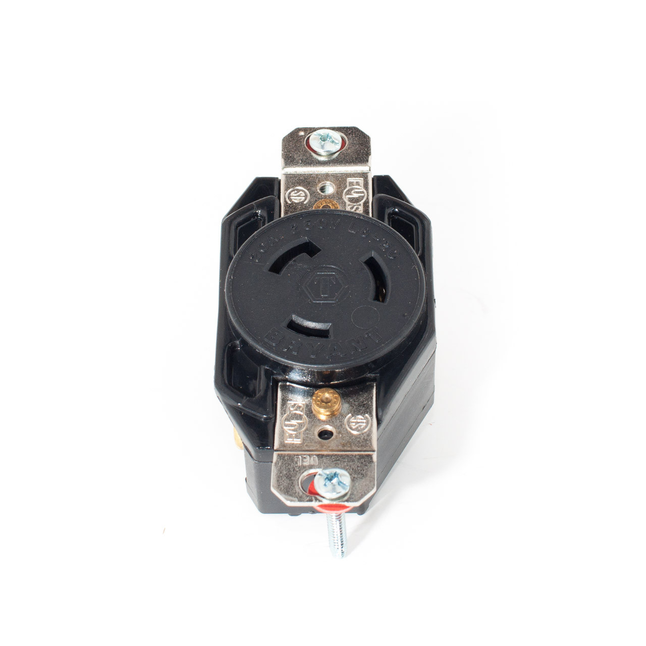 hight resolution of l6 20 2p3w 20a 250v twist lock receptacle hubbell