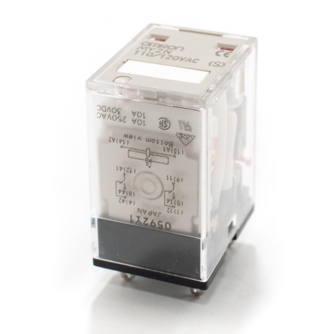 medium resolution of omron my2n 110 120vac relay w led indicator