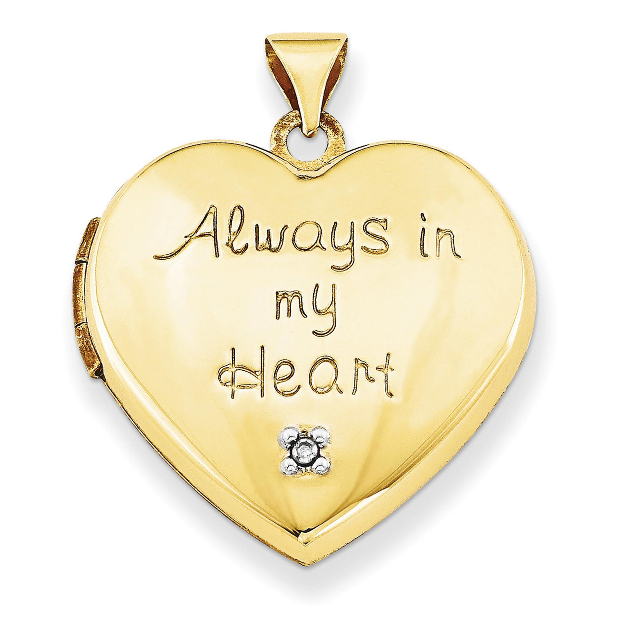 21mm heart with diamond