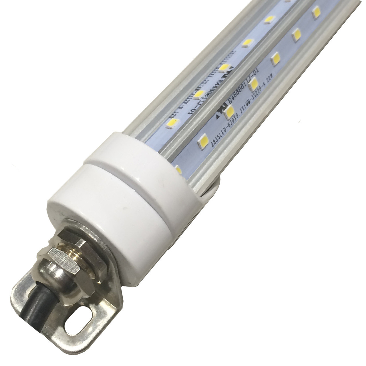 hight resolution of t8 led freezer cooler six foot tube to replace florescent s led wiring diagram for t8 6 bulb led light