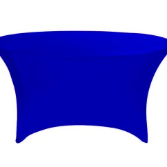 Royal Blue Chair Covers Drive Shower Parts Stretch Spandex 5 Ft Round Table Cover Your Inc
