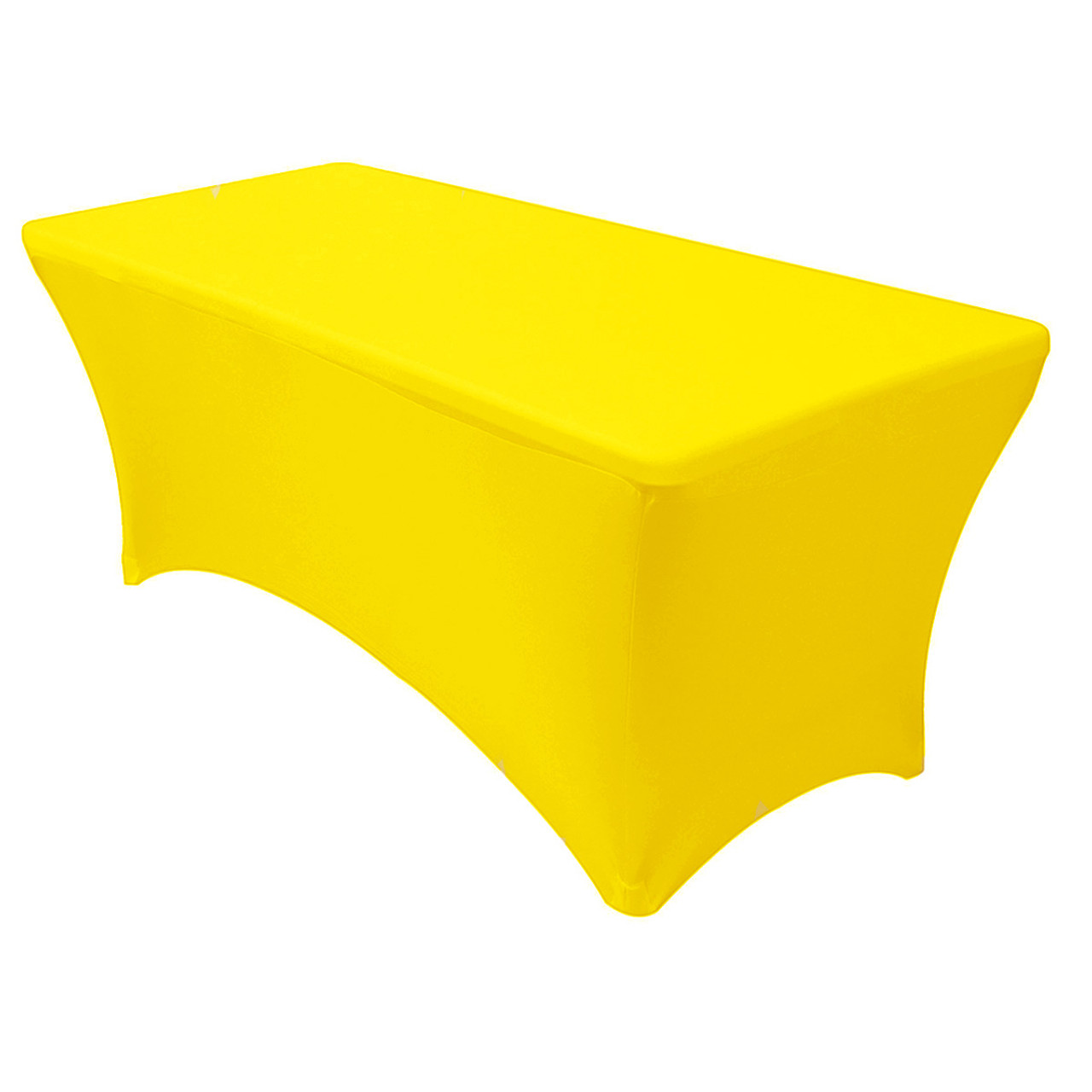 Yellow Chair Covers Stretch Spandex 6 Ft Rectangular Table Cover Yellow