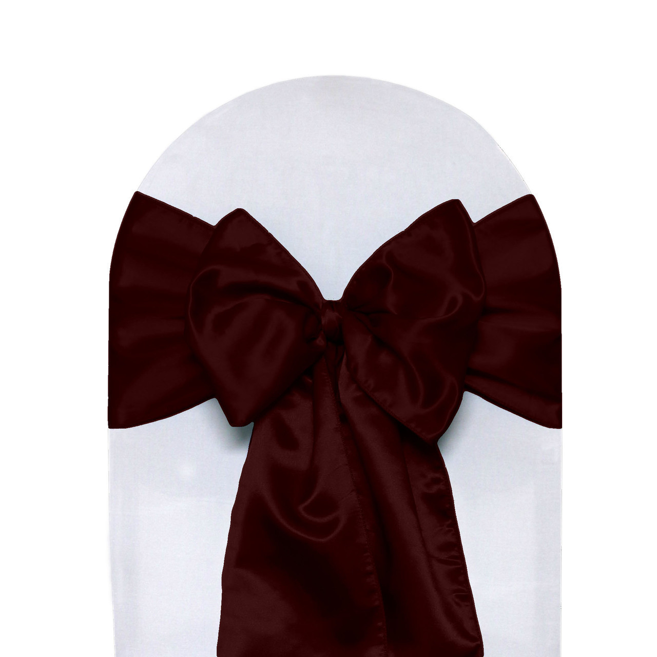 rose gold satin chair sashes custom upholstered chairs 10 pack burgundy your covers inc