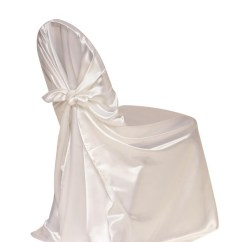 White Chair Covers Cheap Deck Picture Frame Satin Self Tie Universal Cover Your Inc