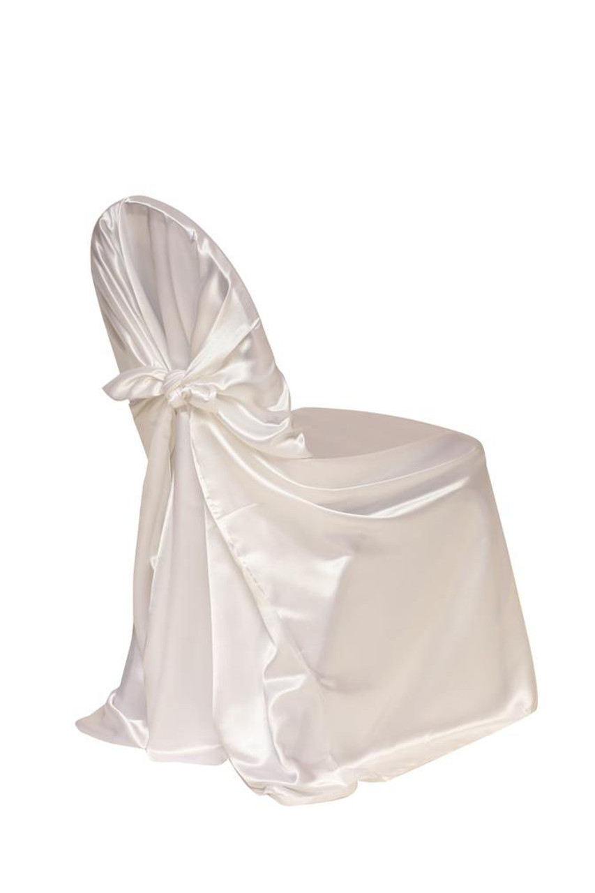 chair covers universal diy mat satin self tie cover white your inc