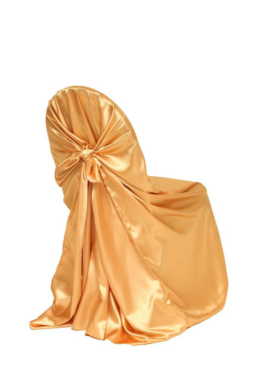 cheap universal chair covers office in jaipur satin self tie cover gold your inc