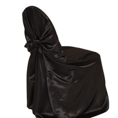 Chair Covers Universal Nichols Stone Rocking Value Satin Self Tie Cover Black Your Inc