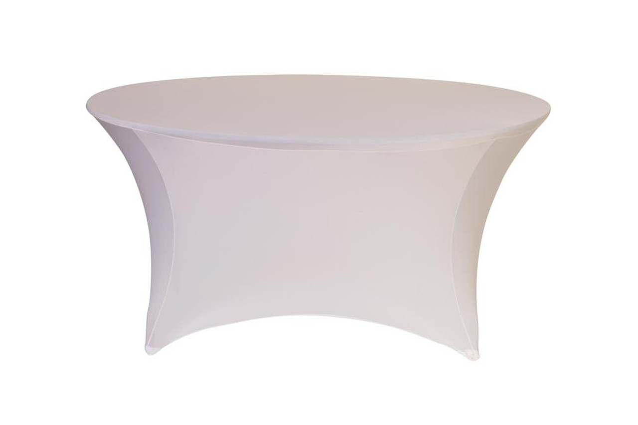 your chair covers inc reviews pink furry cover stretch spandex 5 ft round table white