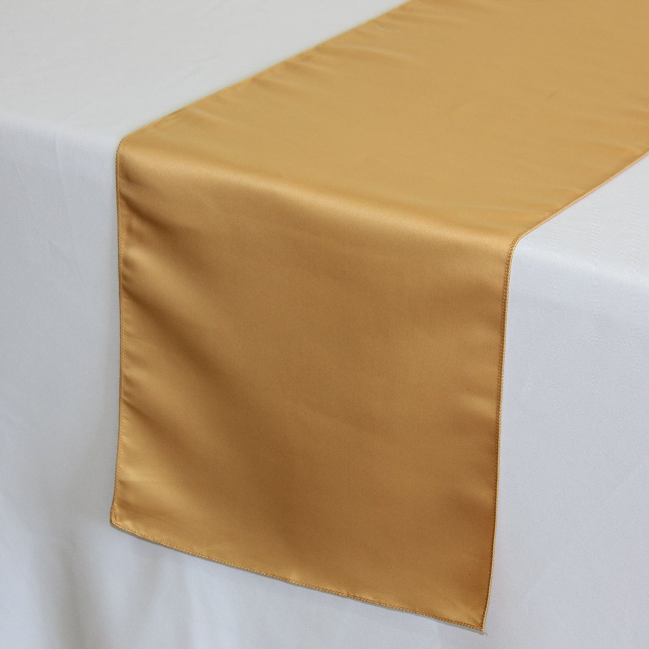 14 X 108 L'amour Satin Table Runner Gold - Chair