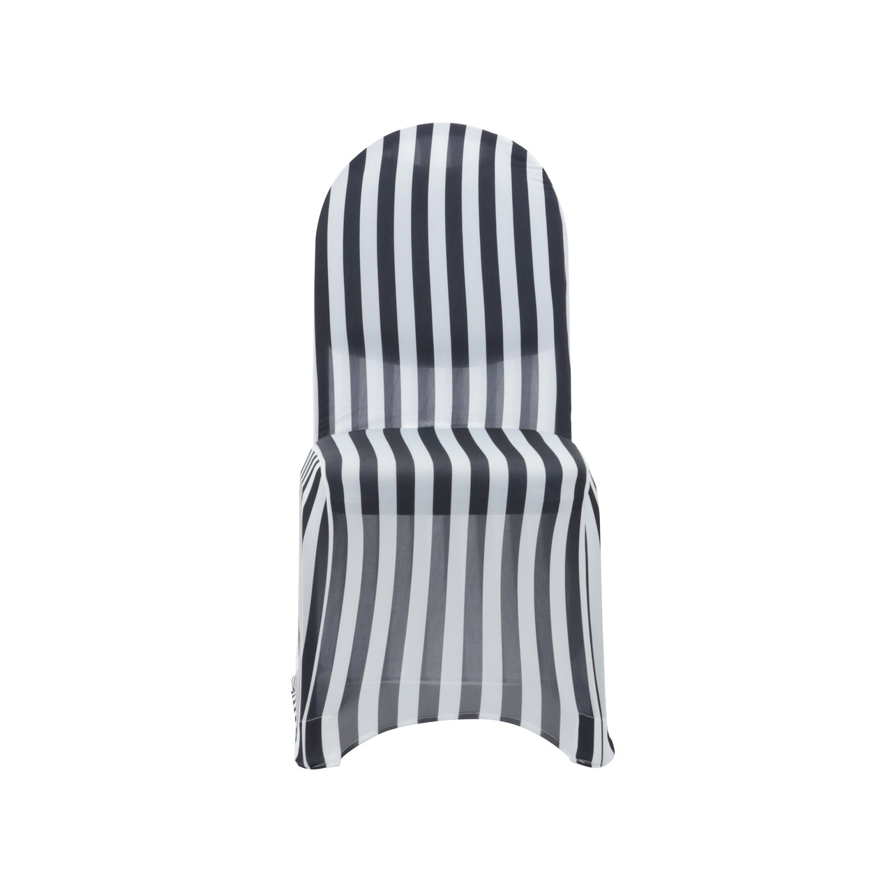gray chair covers for weddings wheelchair height stretch spandex banquet cover black and white striped your