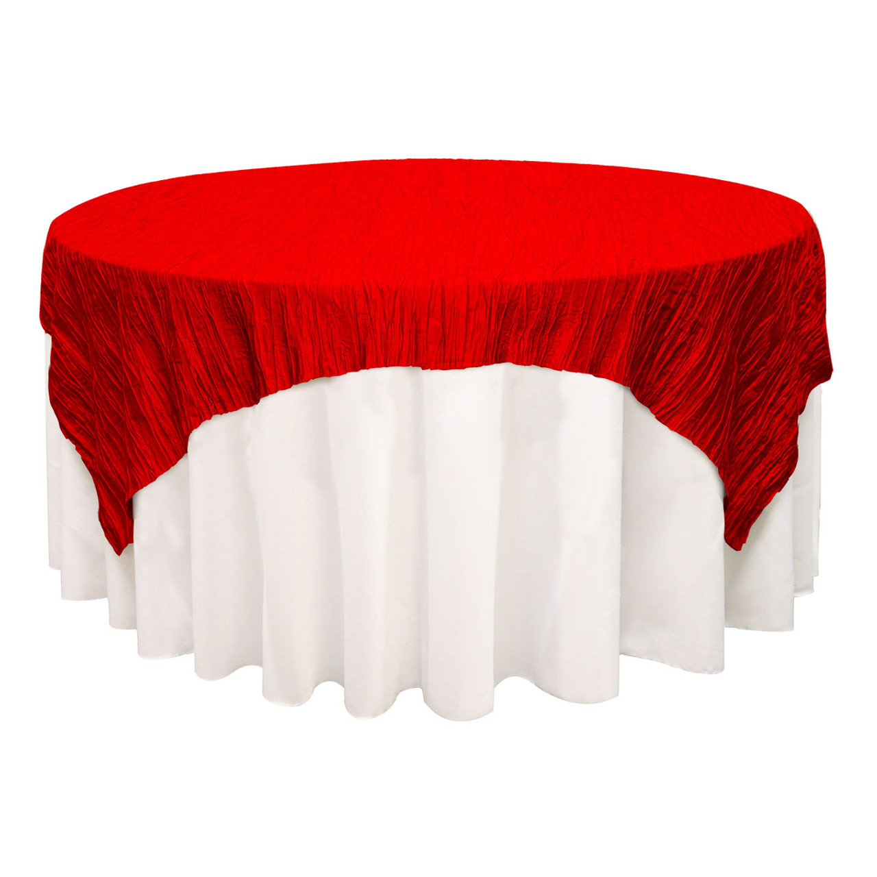 Your Chair Covers Table Covers 90 Inches X 90 Inches Square Crinkle Taffeta Table