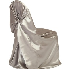 Gold Universal Chair Covers Patio Glider Chairs Canada Self Tie For Weddings Satin Wedding Cover Dark Silver Platinum