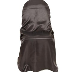 Bulk Satin Chair Covers Real Leather Dining Table Chairs Wholesale For Weddings Spandex Seat Self Tie Universal Black