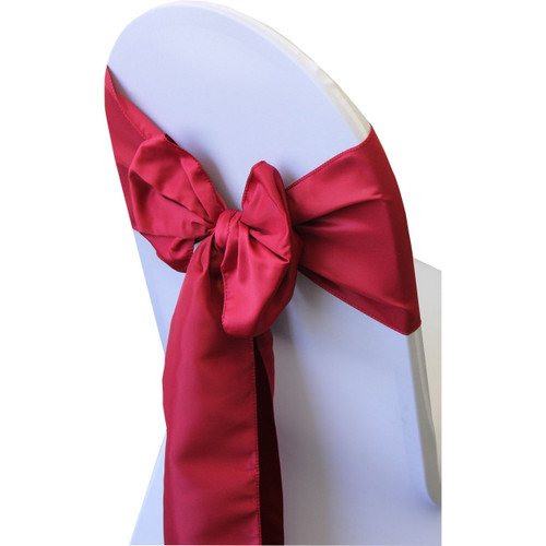 wedding chair sash accessories fishing with esky wholesale lamour sashes for weddings ties dark red