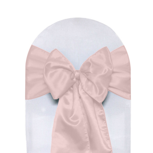where to buy chair sashes plush rocking for nursery 10 pack satin blush your covers inc