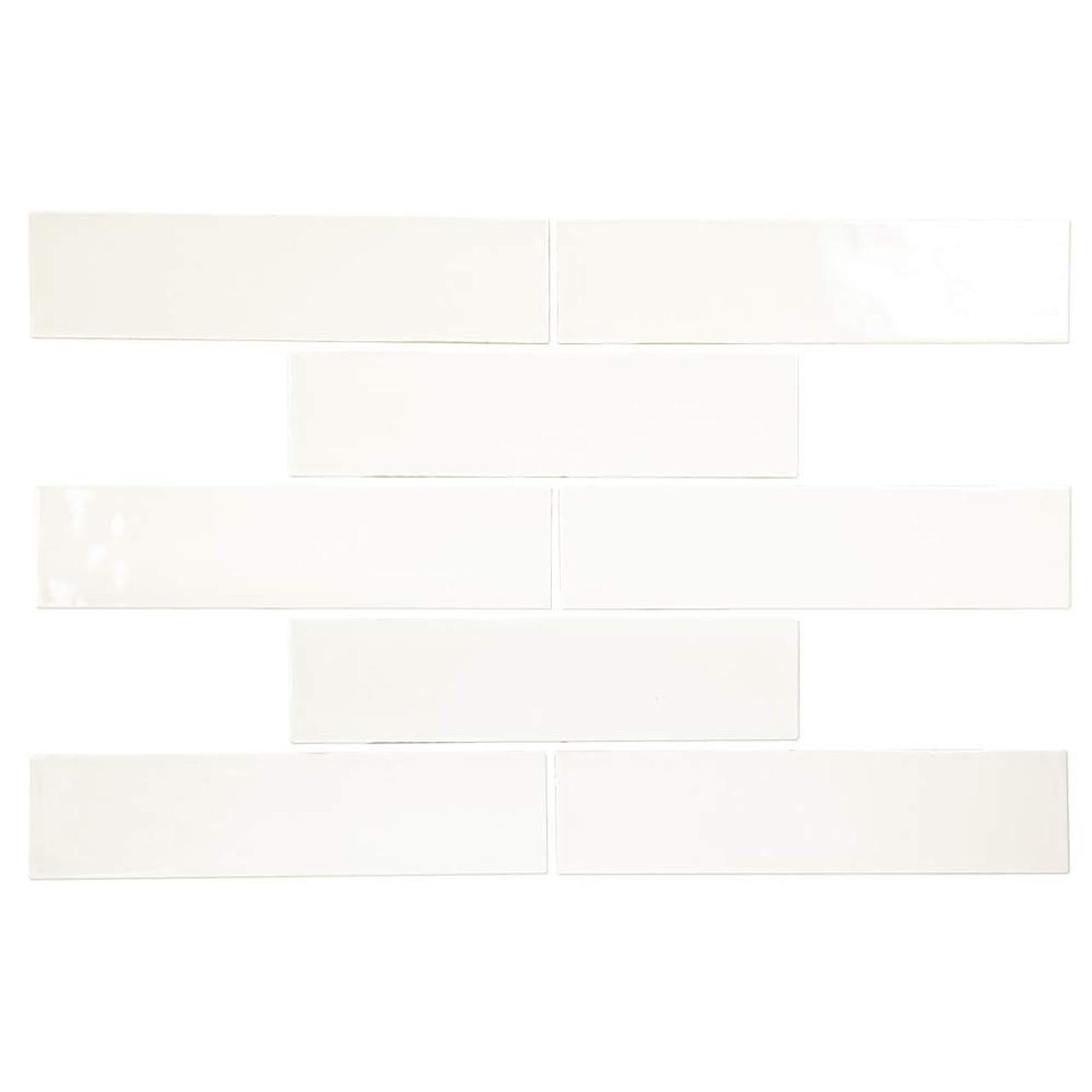 pastel off white glossy 3x12 porcelain subway tile box of 5 4sq ft