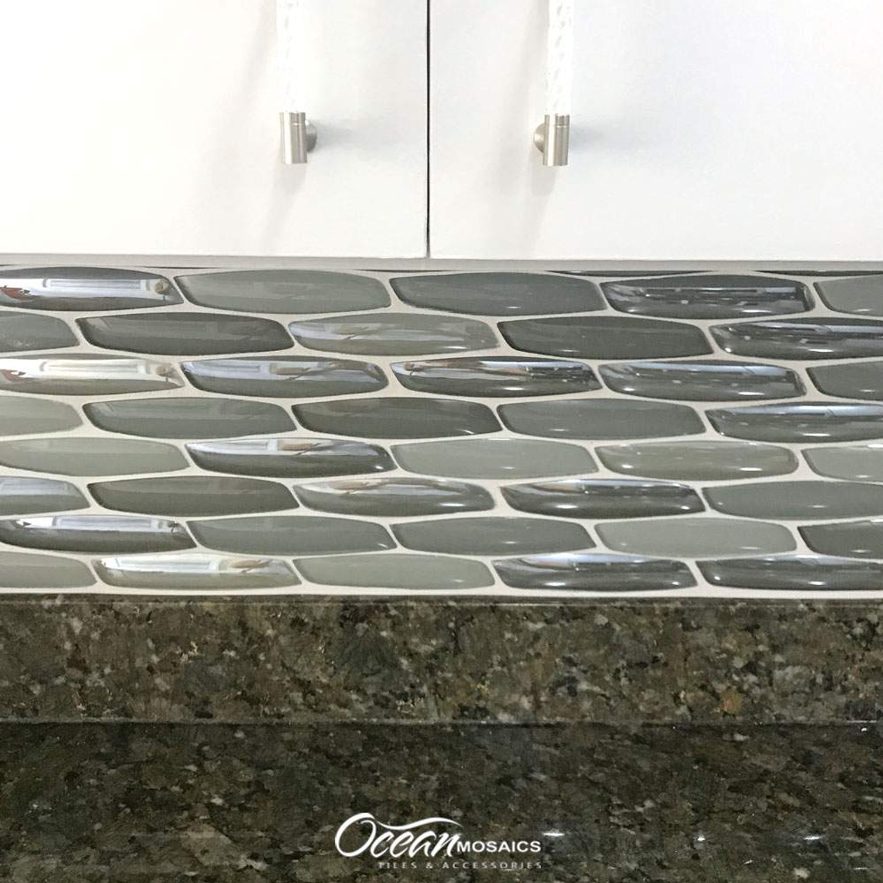 yves taupe mosaic glass tile