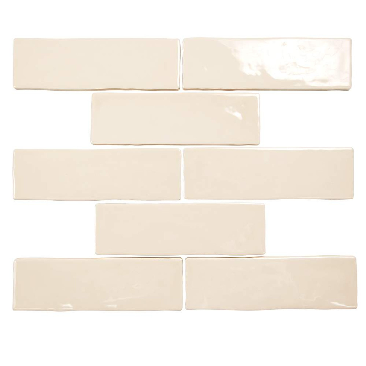 pastel buff beige glossy 2x8 porcelain subway tile box of 5 4 sq ft